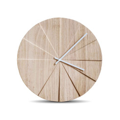 LEFF AMSTERDAM Scope (natural) Wall Clock