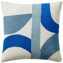 JUDY ROSS WOOL PILLOW- ECLIPSE cream/marine/powder blue/cornflower