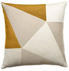 JUDY ROSS WOOL PILLOW- PRISM cream/oyster/gold rayon
