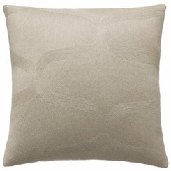 JUDY ROSS WOOL PILLOW- WAVES oyster/oyster
