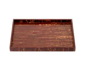 "Subako rectangle tray 11. ¼"" x 7. ¾"" x 1. ¼""H  - Natural by Denshiro"