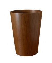 WALNUT WASTE BIN BY SAITO WOOD (TS221)