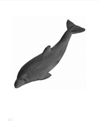CAST IRON DOLPHIN PAPER WEIGHT designed by Tadahiro Baba