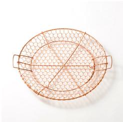 Kanaami-Tsuji HAND-WOVEN NETTED TRAY LARGE (Copper)