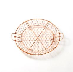 Kanaami-Tsuji HAND-WOVEN NETTED TRAY SMALL (Copper)