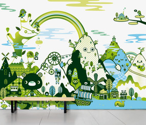 SCENIC WALLPAPER- BANOFFEE PEAKS SPRING design by Tado