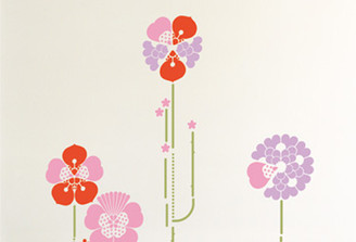DOMESTIC WALL STICKER- HYBRID PINK design by ANTOINE + MANUEL
