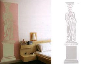 DOMESTIC WALL STICKER- CARYATID design by CONSTANTIN + LAURENE BOYM- Mint