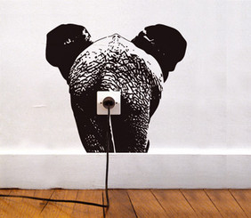 DOMESTIC WALL STICKER ELEPHANT design by Adrien Gardere