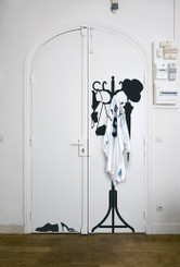 DOMESTIC WALL STICKER- Vinyl + Hanger design by 5.5 designers