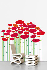 Domestic Wall Sticker Jungle (coquelicot) design by Ich&Kar