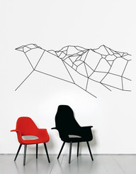 DOMESTIC WALL STICKER- A MOUNTAIN FOR PRESIDENT design by Principles of geometry
