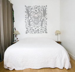 DOMESTIC WALL STICKER- I LOVE YOU MORE THAN SLEEP design by Rob Ryan