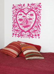 Domestic Wall Sticker Caged Lovers design by Rob Ryan
