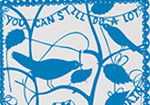 Domestic Wall Sticker- You can still do a lot with quite a small brain design by Rob Ryan