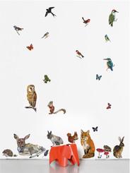 Domestic Wall Sticker Animals 2 design by Nathalie Lété
