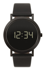 NORMAL TIMEPIECES- EXTRA NORMAL GRANDE DIGITAL WATCH (Black with Black Stainless Case)
