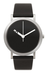 NORMAL TIMEPIECES- EXTRA NORMAL GRANDE WATCH (Black with Black Leather Band)