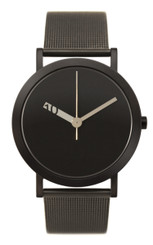 NORMAL TIMEPIECES- EXTRA NORMAL GRANDE WATCH (Black with Black Mesh Band)