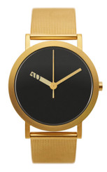 NORMAL TIMEPIECES- EXTRA NORMAL GRANDE WATCH (Black with Gold Mesh Band)