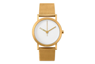 NORMAL TIMEPIECES- EXTRA NORMAL WATCH (White Face Gold Mesh Band)