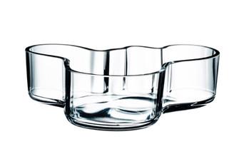 "Iittala Alvar Aalto Collection Bowl 8"", clear"