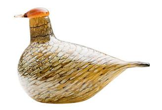 """IITTALA GLASS BIRDS BY TOIKKA Summer Grouse 7"""" x 4.75"""""""
