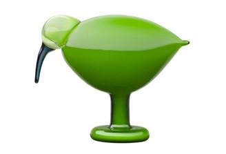 "IITTALA GLASS BIRDS BY TOIKKA Green Ibis 8.5"" x 6.75"""