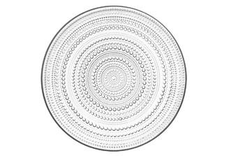 "Iittala Kastehelmi Plate Clear 12.25"" x 12.25"" x .5"""