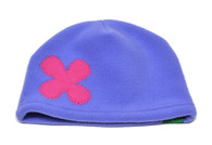 Fleece Hat - Periwinkle Flower
