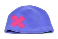 Fleece Hat - Periwinkle Flower