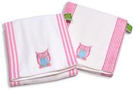 Set of 3 Burp Cloths - Owl