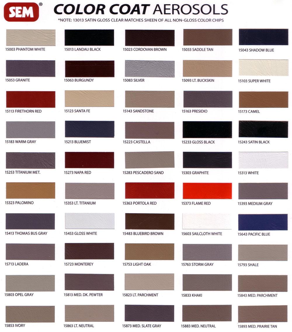 Sem Aerosols Color Coat J Amp J Auto Fabrics Inc