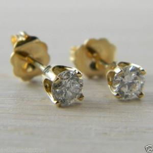 Diamond Butterfly Back 0.50 tcw Yellow Gold Eye Clean Studs Stud Earrings