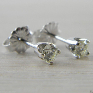 Diamond 0.36 tcw. Butterfly Back Carat Stud Studs Earrings