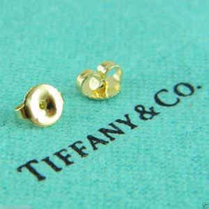 BRAND NEW Tiffany & Co. 18k 750 Yellow Gold Pair of Earring Backs