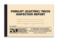 Electric Forklift Inspection Form Log Book Cover