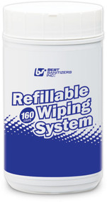 SS10005P - Refillable Wiping System Canisters, 90 Heavy Duty Wipes (Case of 6)