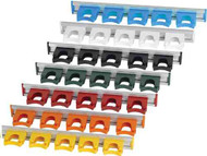 414100 - 20-inch Aluminium Rail with 5 #HOLD1 Hangers