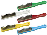 150036E - Stainless steel wire scratch brush, abrasive, resin set