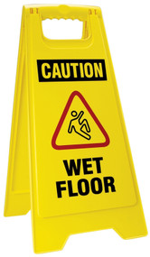OSHA Caution Folding Wet Floor Sign