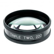 Ocular MaxLight Triple Two Panfundus 22D Indirect Lens with Case. New!