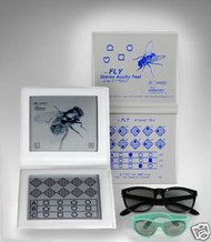 Stereo Fly Test Brand New With Adult & Child Glasses!