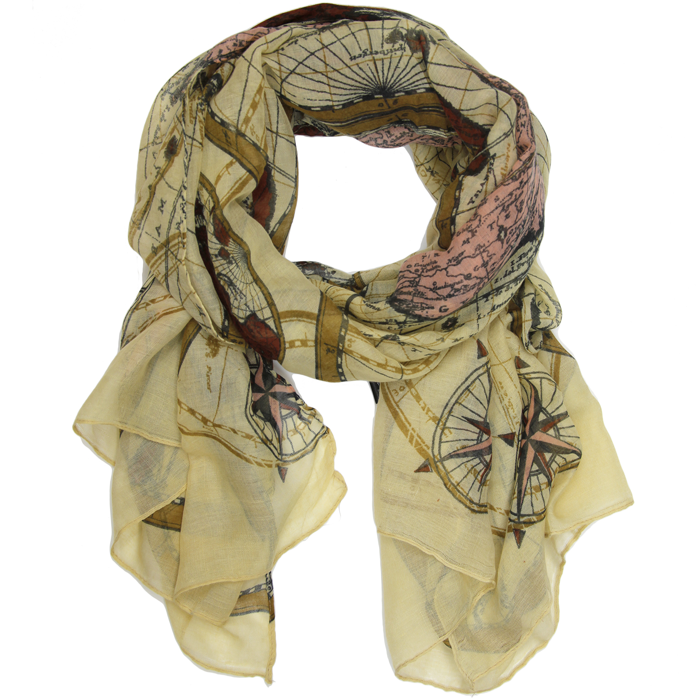 Map print scarf
