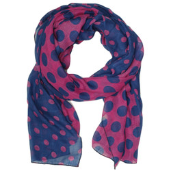 Purple and blue polka dot scarf by Bucasi