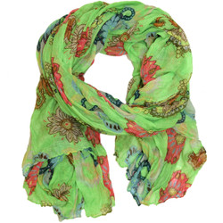 Neon Lime Green Paisley Floral Scarf