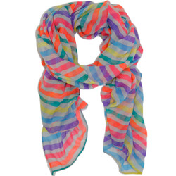 Neon Rainbow Striped Scarf