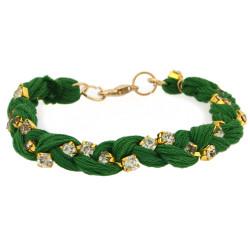 Jenny Braided Bracelet In Green