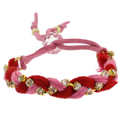 Jenny Braided Bracelet In Red
