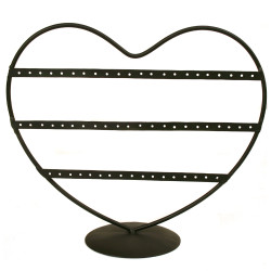 Heart Earring Organizer In Bronze
